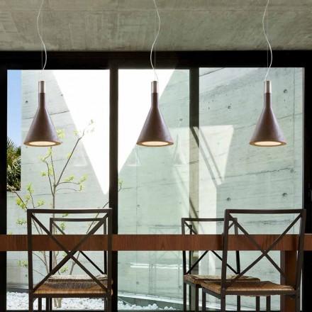 Lampa wisząca z cementu Funnel di Aldo Bernardi