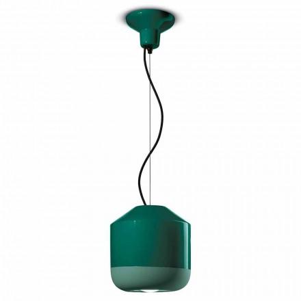 Lampa wisząca z kolorowej ceramiki Made in Italy - Ferroluce Bellota