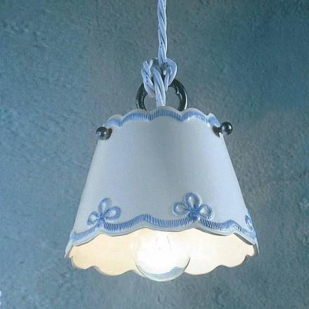 Lampa wisząca ceramiczna dekorowana ręcznie Ferroluce