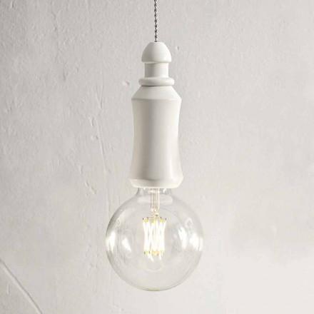 Ceramiczna odrapana lampa wisząca Made in Italy - Fate Aldo Bernardi