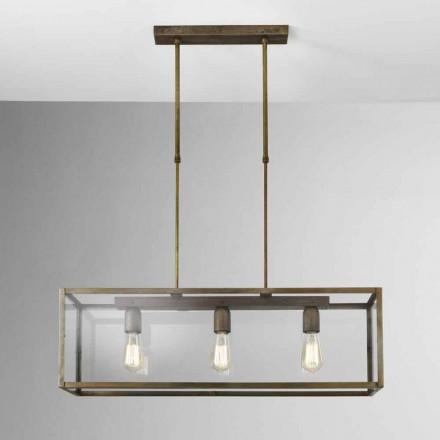 Lampa wisząca z żelaza i szkła London od Il Fanale
