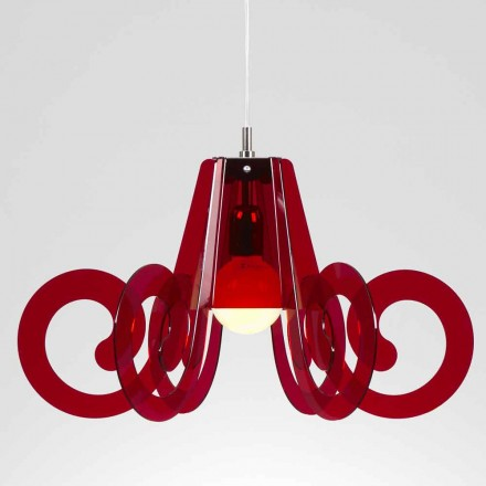 Lampa wisząca z metakrylanu design śred. 55 cm, model Livia