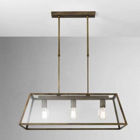 Przemysłowa lampa wisząca 3 London światła Il Fanale