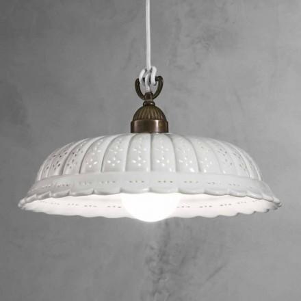 Lampa wisząca z ceramiki liberty Ø42 Anita by Il Fanale