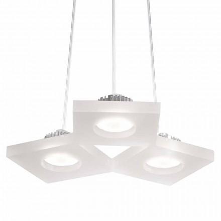 Lampa wisząca z satynowego białego metakrylanu 15 mm, 27x23 cm Nella