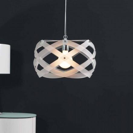 Lampa wisząca nowoczesna z metakrylanu o średnicy 40 cm Vanna