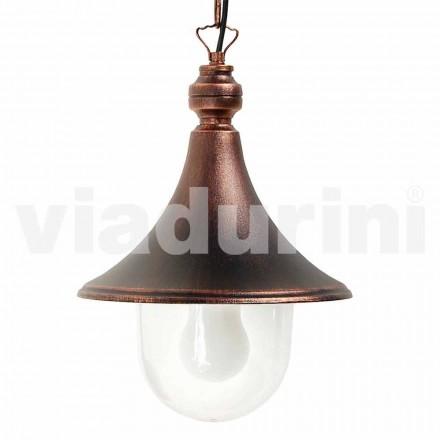 Zewnętrzna lampa wisząca wykonana z aluminium, wyprodukowana we Włoszech, w Anusca