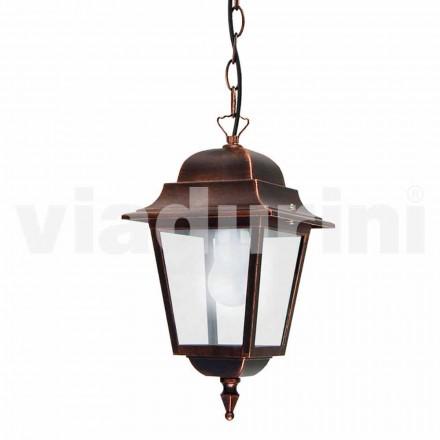 Zewnętrzna lampa wisząca wykonana z aluminium, wyprodukowana we Włoszech, Aquilina