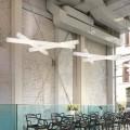 Lampa wisząca biała z polietylenu Slide Mesh, made in Italy
