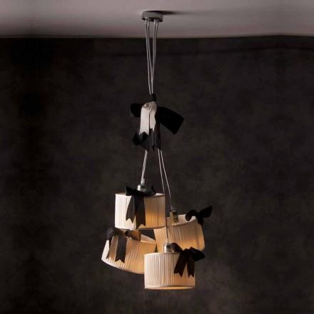 Lampa wisząca vintage 4 punktowa Chanel