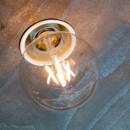 Ręcznie wykonana lampa wpuszczana z białego aluminium Made in Italy - Frana