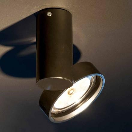 Ręcznie wykonana aluminiowa lampa z regulowanym pierścieniem Made in Italy - Gemina