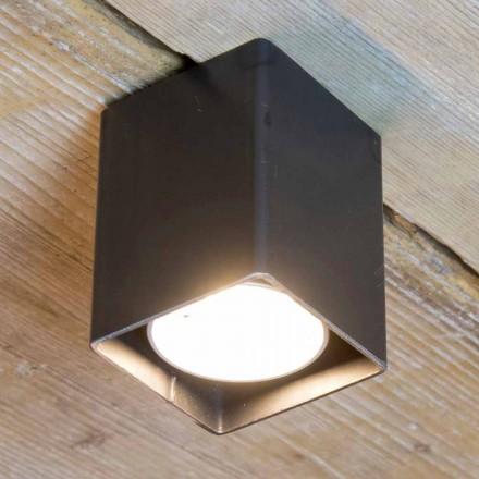 Lampa rzemieślnicza z czarnego żelaza o sześciennym kształcie Made in Italy - Cubino