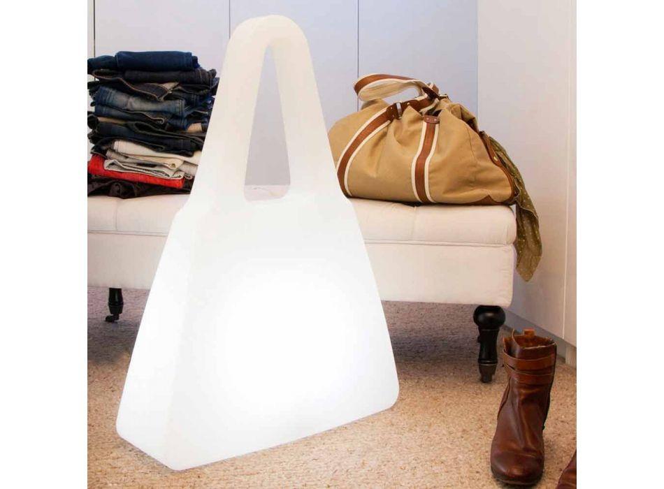 Nowoczesna lampa stołowa z białego tworzywa sztucznego do wnętrz - Borsastar