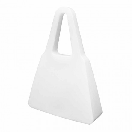 Biała designerska lampa stołowa lub podłogowa do wnętrz lub na zewnątrz - Borsastar