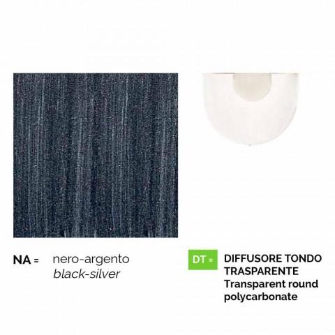 Kinkiet zewnętrzny z odlewanego ciśnieniowo aluminium produkowanego we Włoszech, Anusca