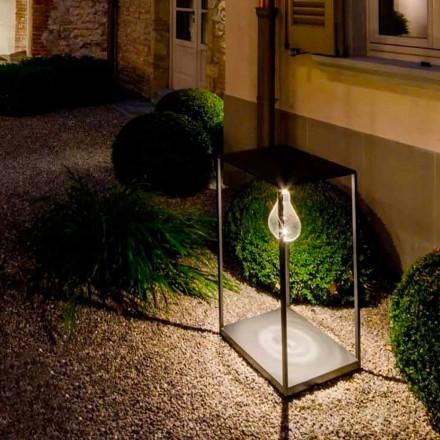 Ręcznie wykonana żelazna lampa zewnętrzna ze zintegrowaną diodą LED Made in Italy - Cubola