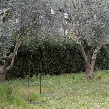 Lampa zewnętrzna Artisan z żelaza i szkła dekoracyjnego Made in Italy - Beba