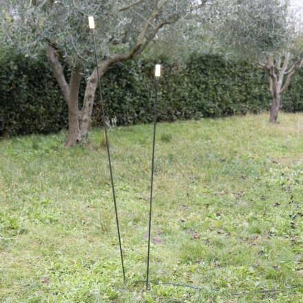 Lampa zewnętrzna z malowanego żelaza o minimalistycznym wyglądzie Made in Italy - Filo