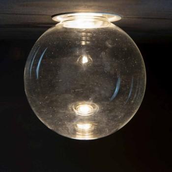 Aluminiowa lampa wpuszczana z dekoracyjnym szkłem Made in Italy - Ampolla