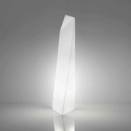 Podłogowa lampa biała Slide Manhattan, made in Italy