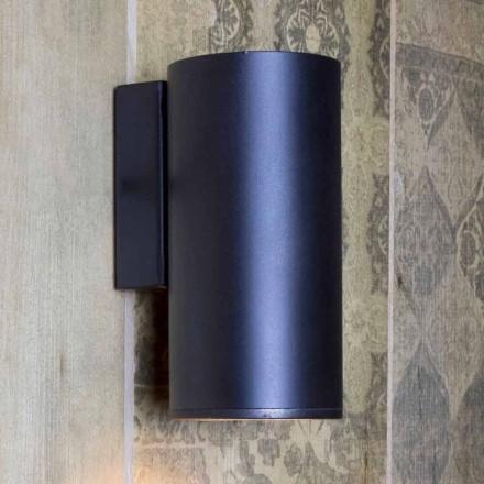 Ręcznie wykonana, cylindryczna lampa ścienna z żelaza Made in Italy - Gemina