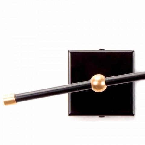Czarny kinkiet Artisan z mosiężnymi detalami Made in Italy - Master