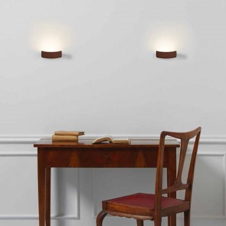 Nowoczesna lampa ścienna ze stali 13xH 3,5x Sp.10 cm Osea