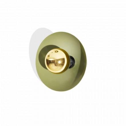 Nowoczesny kinkiet z metalu ze złotą dekoracją Made in Italy - Valta