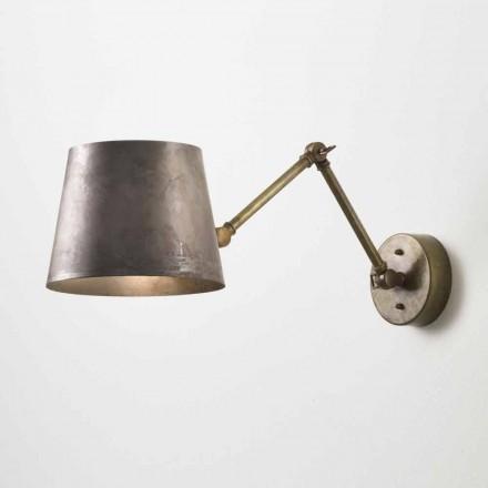 Lampa ścienna regulowana z żelaza Reporter Il Fanale