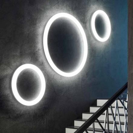 Nowoczesna okrągła lampa ścienna LED wykonana we Włoszech z polietylenu - Slide Giotto
