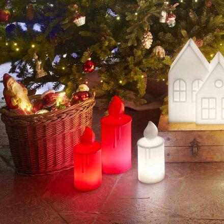 Biała lub czerwona świecąca lampa stołowa Design by Slide - Fiammetta