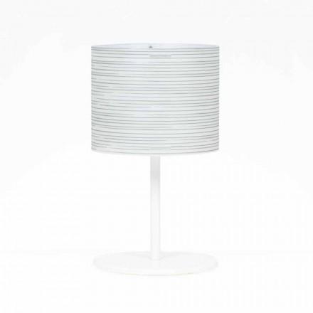 Lampa stołowa z dekoracją model Debby, średnica 30 cm