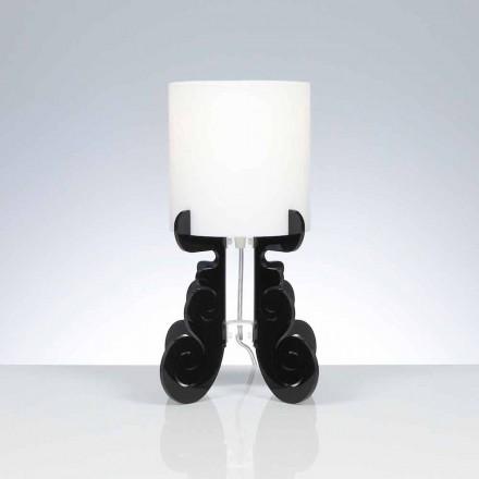 Lampa stołowa z abażurem, średnica 18,5 cm Samanta