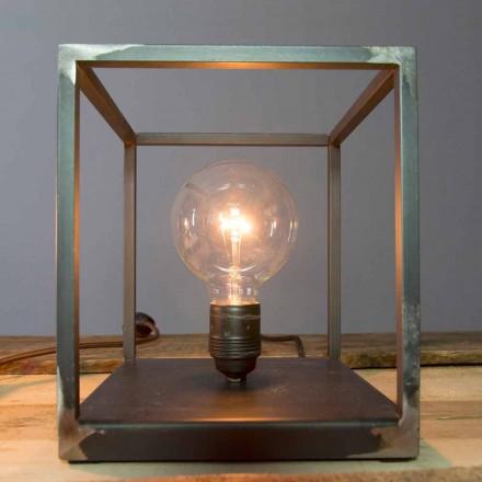 Lampa stołowa z żelazną konstrukcją Artisan Made in Italy - Cubola