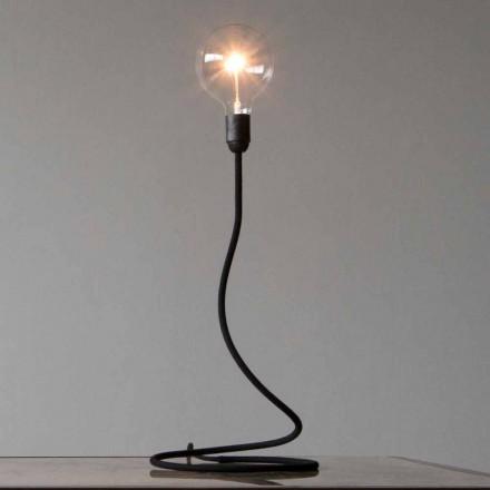 Lampa stołowa z miedzianą strukturą Nowoczesny design Made in Italy - minimum