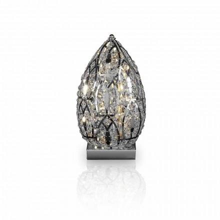 Lampa stołowa design  ze stali i szkła w kształcie jajka Egg