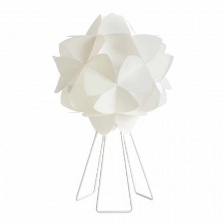 Lampa stołowa o średnicy 46 cm biała perła, Kaly