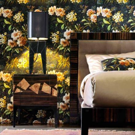 Lampa stolowa design drewniana Grilli Zarafa made in Italy