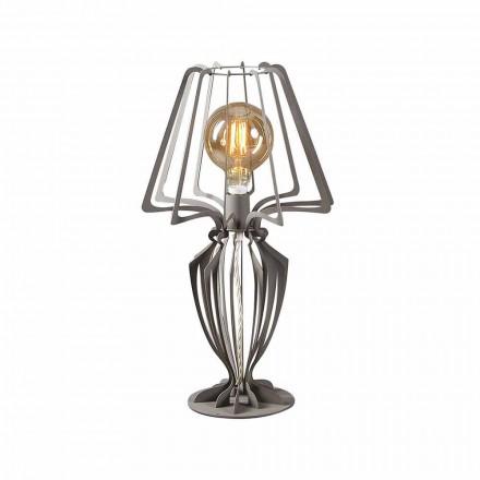 Żelazna lampa stołowa o nowoczesnym designie Made in Italy - Giunone