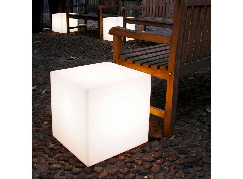 Lampa stołowa i podłogowa Slide Biała jasna kostka wykonana we Włoszech