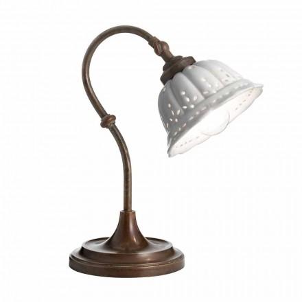 Lampa stołowa z ceramiki liberty Anita od Il Fanale