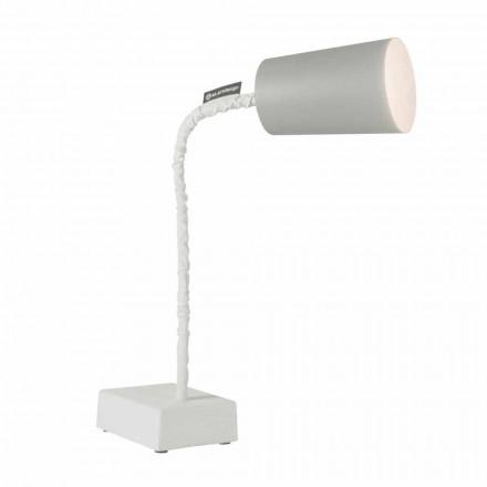 Lampa stołowa In-es.artdesign Elastyczny trzon cementu Paint T2