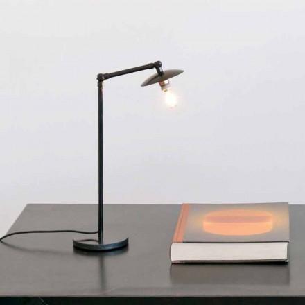 Żelazna lampa stołowa z regulowanym światłem Made in Italy - Amino