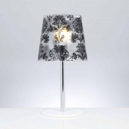 Lampa stołowa z poliwęglanu z dekoracjami o średnicy 30 cm Mara