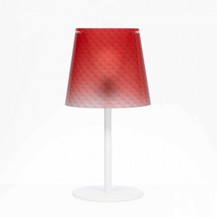 Lampa stołowa z poliwęglanu z diamentową dekoracją Rania