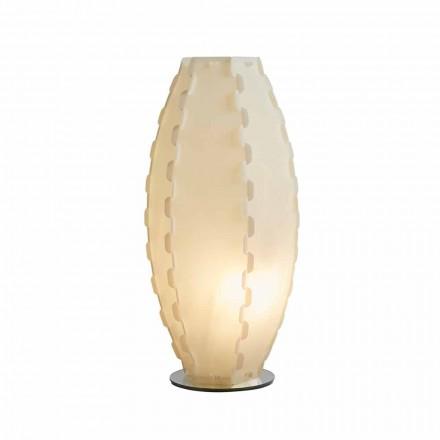 Lampa stołowa z sandylex pearl Gisele, średnica 27 cm