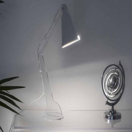 Stół / lampka do czytania w stylu Tecno ze światłem LED, Flero