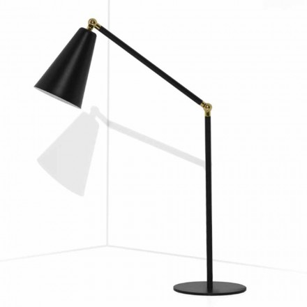 Nowoczesna lampa stołowa z metalową konstrukcją Made in Italy - Zaira