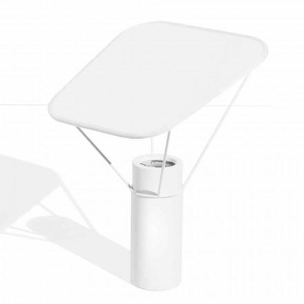 Nowoczesna lampa stołowa z żywicy i białej bawełny Made in Italy - Fiera